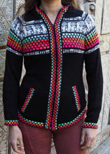 Load image into Gallery viewer, Small - Black Bolivian Alpaca Cardigan