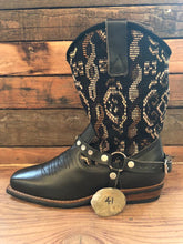 Load image into Gallery viewer, Size 41 Blunt-toe Cowgirl Bling Boots Earthy Tones