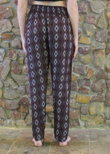 Load image into Gallery viewer, Slim-Fit Pocket Pants - Diamonds on Maroon