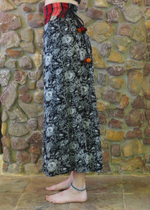 Tribal Pants with Pom Poms - Paisley