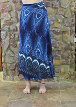 Load image into Gallery viewer, Wrap-Around Skirt - Blue and White