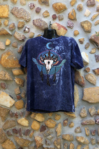 Extra Large Funky Tee - Bull Totem - Navy