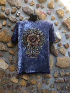 Extra Large Funky Tee - Eye in a Flower - Blue