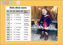 Load image into Gallery viewer, Size 9 Kids Adventure Boots Brown Leather and Mustard Stripes