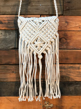 Load image into Gallery viewer, Natural macrame bag- white
