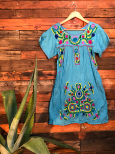 Little Frida shift Dress-sky blue