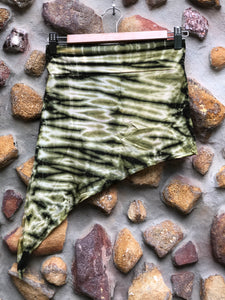 Elfy Tie dye mini skirt-Green and white