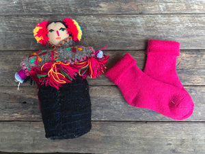 Fuschia (Large ) Children's Merino socks