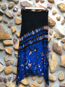 Stretch split skirt- Blue ocean (XS/Small)