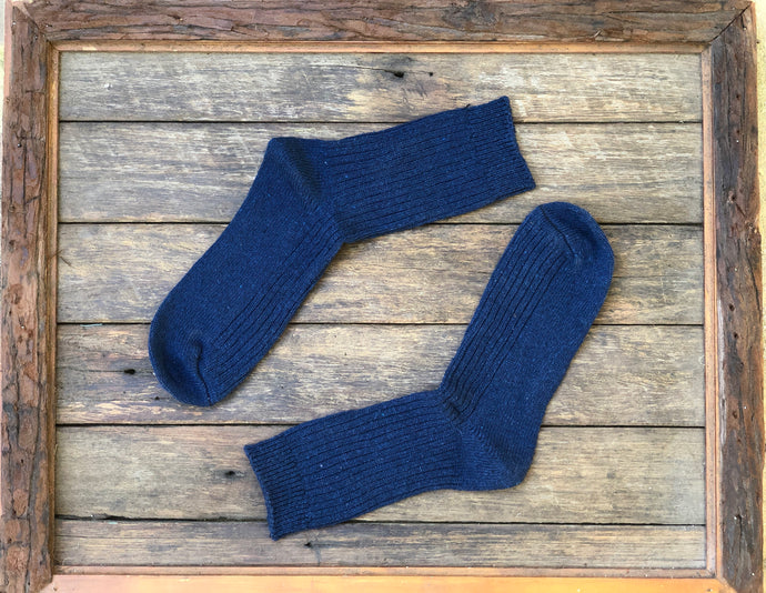 Navy- Merino wool socks