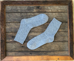Grey-Merino wool socks