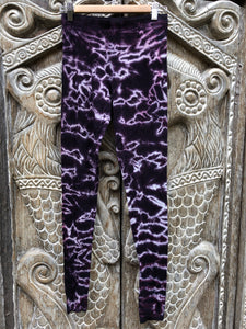 Tie dye Leggings- Purple Ice