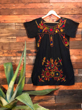 Load image into Gallery viewer, Little Frida shift Dress- autumn on black