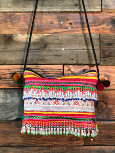 Hill Tribe Clutch-long coloured beads