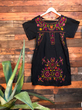 Load image into Gallery viewer, Little Frida shift Dress- spring on black