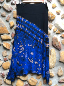 Stretch split skirt- Blue ocean (Large/XL)