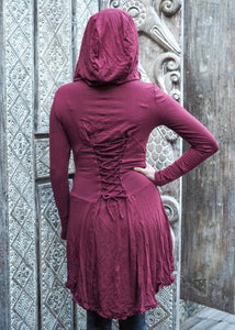 Robin Hood Cardigan- wine red