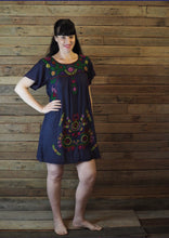 Load image into Gallery viewer, Little Frida shift Dress - Navy