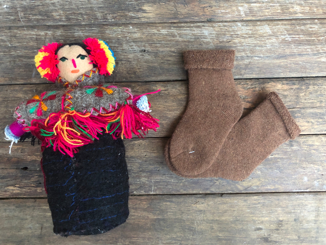 Chocolate  (Medium) Children's Merino socks