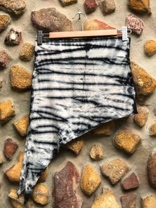 Elfy Tie dye mini skirt-Black And white