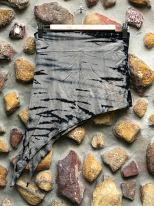 Elfy Tie dye mini skirt- charcoal and black