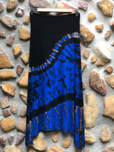 Load image into Gallery viewer, Stretch split skirt- Blue wave (XS/Small)