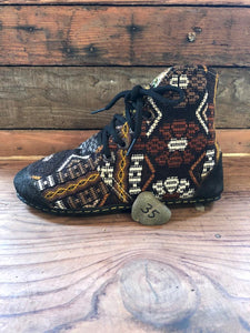 Size 35 Cloth Moccasins Earthy Tones
