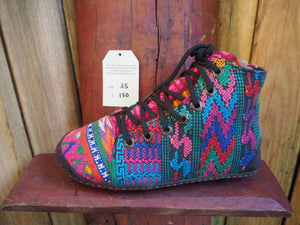 Size 35  Last of a Kind - Red, Blue and Purple ZigZags