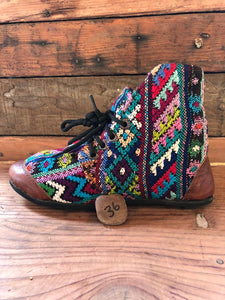 Size 36 Cloth Moccasins Rainbow Patterns