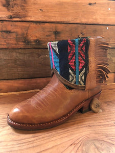 Size 36 - Convertible Cowgirl Boots - Aztec and Turquoise Flower Garden