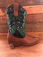 Load image into Gallery viewer, Size 36 - Convertible Cowgirl Boots - Aztec and Turquoise Flower Garden