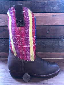 Size 36 Traditional Cowgirl Boot Stripes
