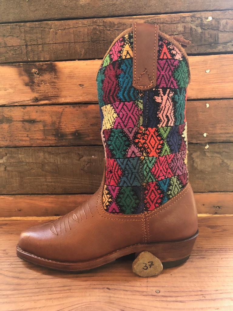 Size 37 - Convertible Cowgirl Boots - Rainbow Pop