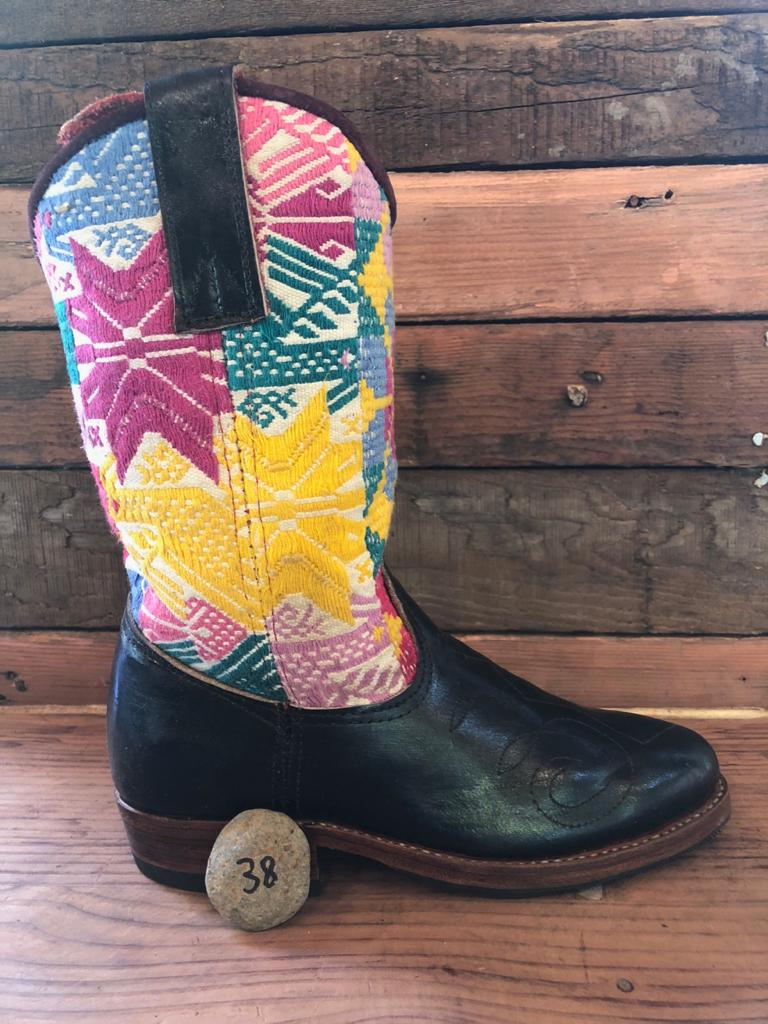 Size 38 - Convertible Cowgirl Boots - Pastel Stars