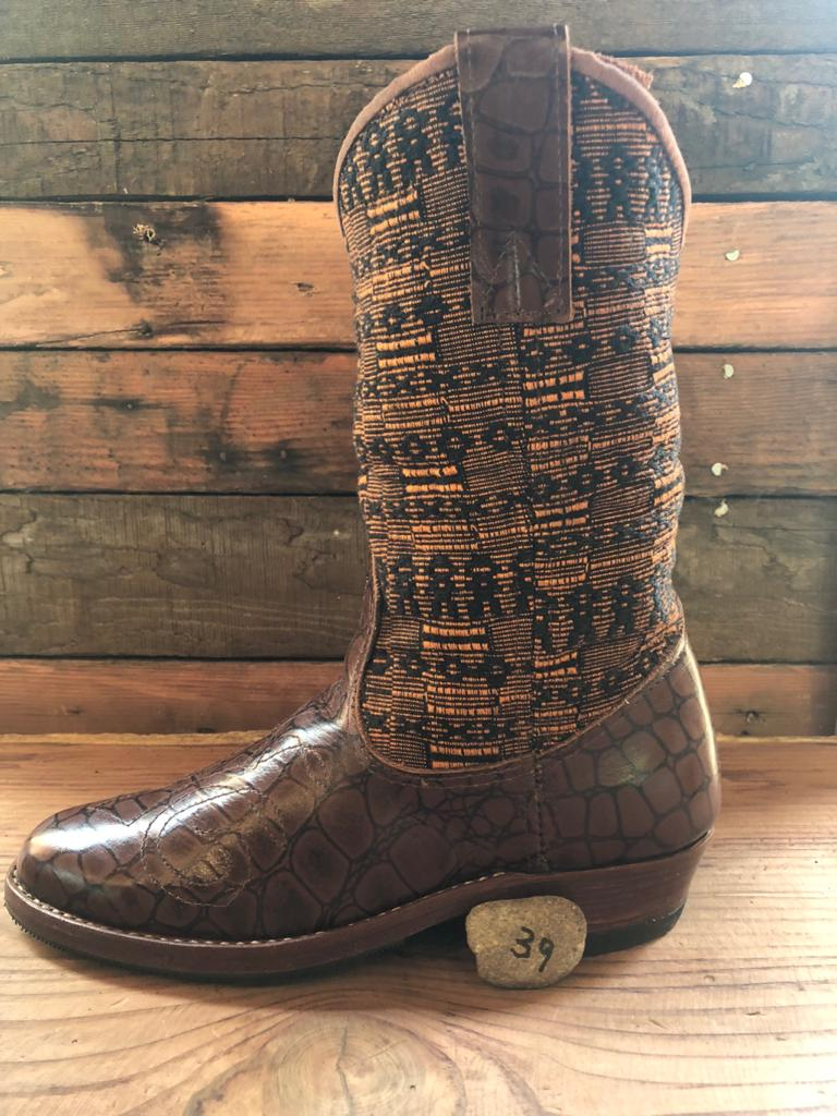 Size 39 - Convertible Cowgirl Boots - Earthy Tones