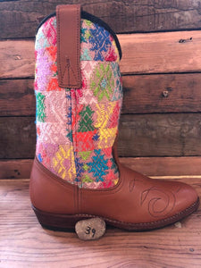 Size 39 - Convertible Cowgirl Boots - Pastel Deers