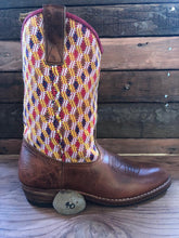 Load image into Gallery viewer, Size 40 - Convertible Cowgirl Boots - Pink Aztec and Funky Fun