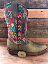 Load image into Gallery viewer, Size 40 - Convertible Cowgirl Boots - Rainbow Arrows