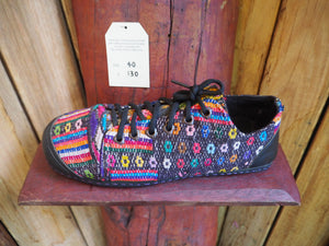 Size 40 Last of a Kind - Rainbow Dots on Grey