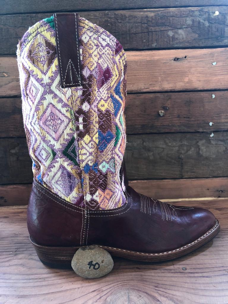 Size 40 Traditional Cowgirl Boot Pastel Purples