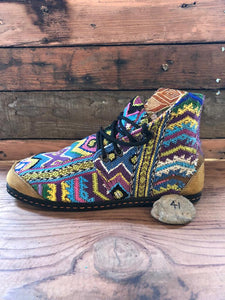 Size 41 Cloth Moccasins Pastel Rainbow