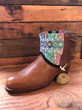 Load image into Gallery viewer, Size 41 - Convertible Cowgirl Boots - Brown Embroidery and Aztec