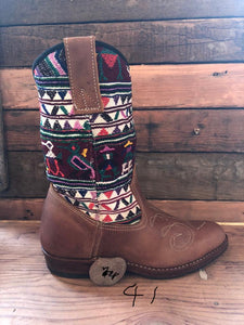 Size 41 Traditional Cowgirl Boot Mayan Birds