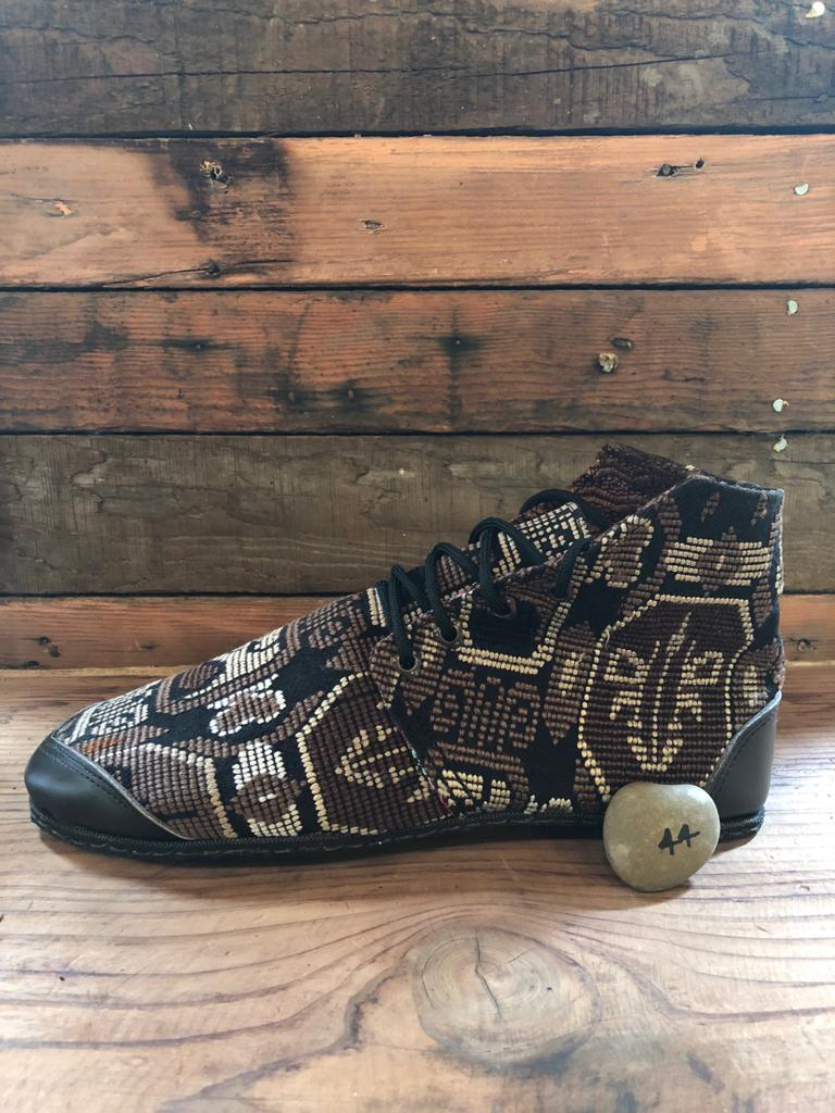 Size 44 Cloth Moccasins Brown Patterns