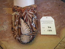 Load image into Gallery viewer, Size 36 Ballerina Sandals - Brown and Gold Birds