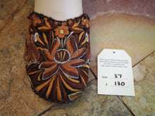 Load image into Gallery viewer, Size 37 Ballerina Sandals - Brown and Orange Flower and Birds