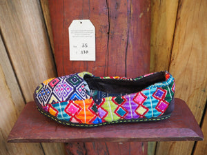 rainbow diamonds slip-ons