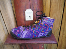 Load image into Gallery viewer, purple diamonds on purple high converse
