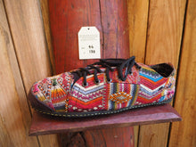 Load image into Gallery viewer, red aztec low converse