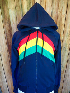 Cotton Fleece Rasta Stripes